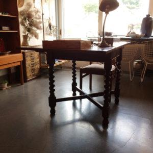 イギリスアンティーク、ドローリーフテーブル、ツイストレッグ、drawleaftable