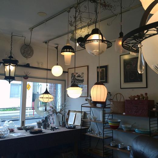 アールデコ、大正ロマン、電笠、洋館、ガラスランプ、ペンダントライト、アンティーク照明