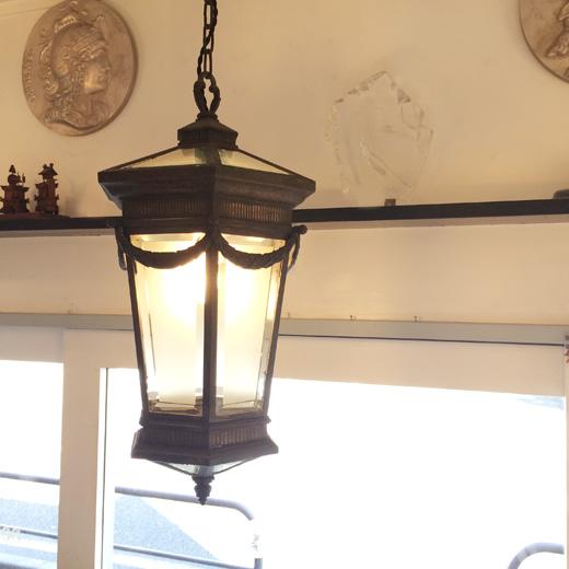 アールデコ、戦前、洋館、ペンダントランプ、ガラスランプ、大正ロマン、アンティーク照明