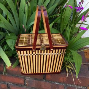 竹籠バッグ、竹かご、あけびバッグ、竹細工、ハンドクラフト、民芸、ヴィンテージ