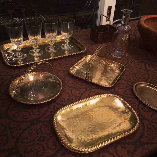 真鍮食器、ブラス、ゴールド、モダンラグジュアリー、北欧ヴィンテージ、モダン食器