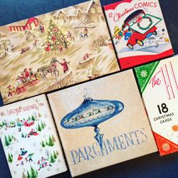 ヴィンテージ、クリスマスパッケージ、ボックス