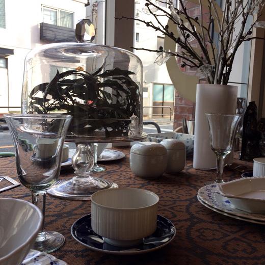 アンティークケーキドーム、戦前ガラス器、テーブルコーディネート、ヴィンテージクリスマス