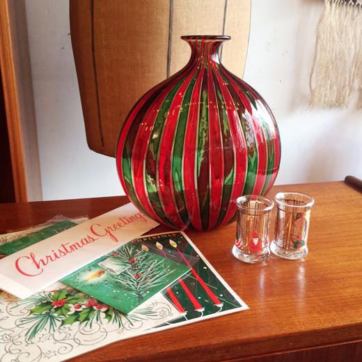 クリスマスカード、ギフト、ムラノガラス、北欧クリスマス