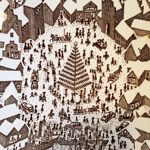 クリスマスプレート、北欧ヴィンテージ、ニモール、nymolle、1952年、paulhoyrup