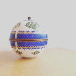 オーストリア、エナメル工芸、ボールキャニスター