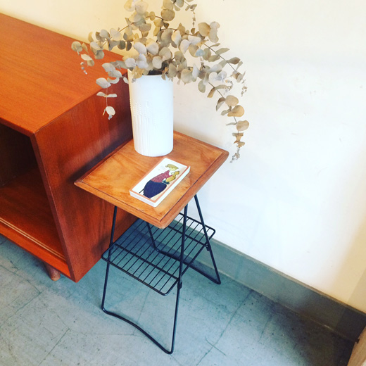 リメイクフラワースタンド、ヴィンテージサイドテーブル