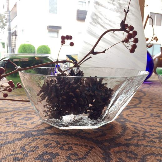 ヴィンテージクラフト、硝子変形鉢