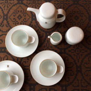 1970年代白山陶器、森正洋デザイン、ソフィア、コーヒーセット、カップ&ソーサー