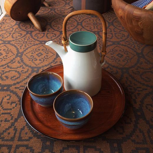 白山陶器、ヴィンテージ、ティーポット、急須、モダンデザイン