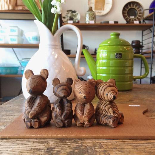 北海道、民芸品、木彫り熊、クラフト、ヴィンテージ、熊ボッコ