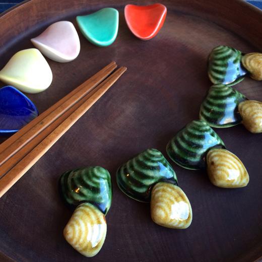 箸置き、和食器、祝いの席、蛤、五色