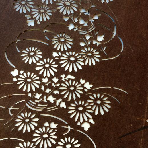 伊勢型紙、古道具、型染、伝統工芸、菊花