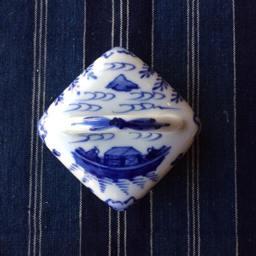 京焼、香合、橋本喜泉、染付、隅田川、茶道具、共箱、季節のしつらえ