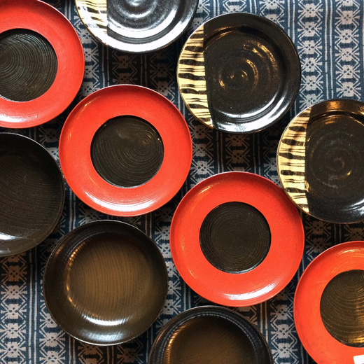 漆器、黒織部、和食器、ヴィンテージ、骨董