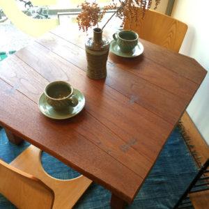 山口木工、座卓、無垢テーブル、チギリ、クラフト家具、民芸家具、和モダン