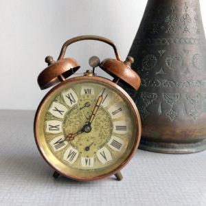 フレンチアンティーク、ブロカント、目覚まし時計、ジャズ、jaz、ヴィンテージ時計
