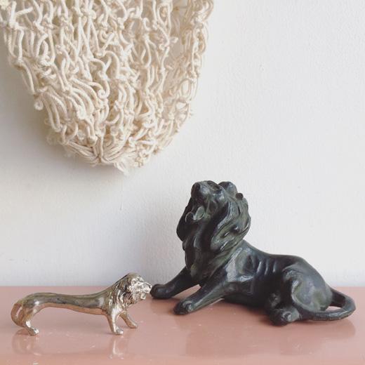 ヴィンテージ雑貨、フィギュリン、フィギア、ライオン、百獣の王、置物、オブジェ