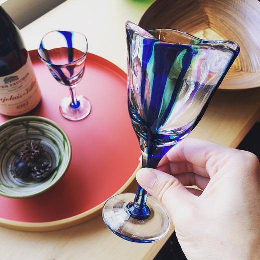 津軽、曲げわっぱ、盆、グッドデザイン賞、丹場曲物工芸社、浅原千代治、ワイングラス