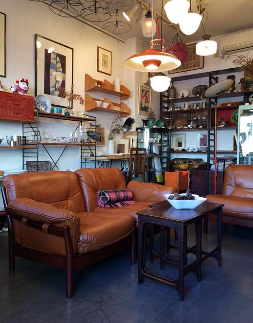 マルニ、ヴィンテージソファ、本革、チーク家具、北欧インテリア