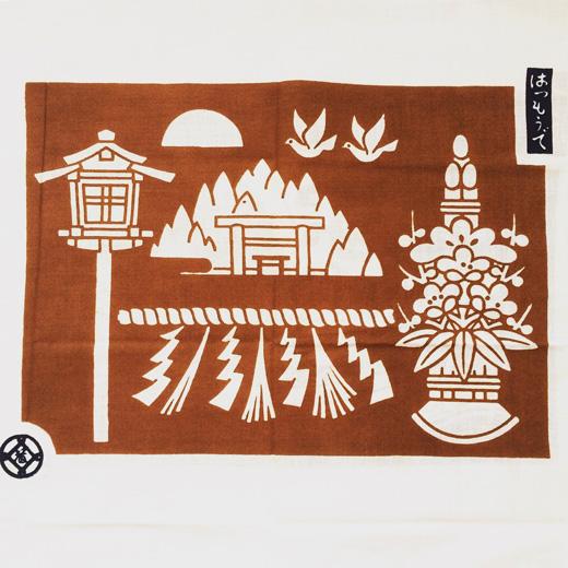 松坂屋、手ぬぐい、販促品、ノベルティ、1980年代、お正月、初詣、モダンクラフト、ヴィンテージ