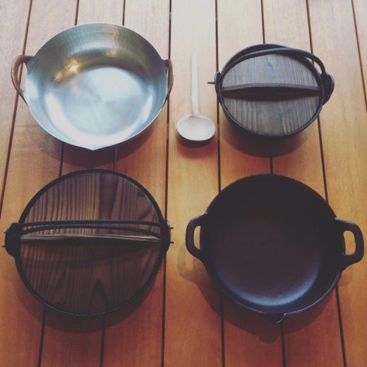 銅鍋、鉄鍋、南部鉄器