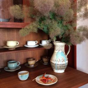 小鹿田焼、民芸、器、ピッチャー、ヴィンテージ、古道具、和モダン、花器