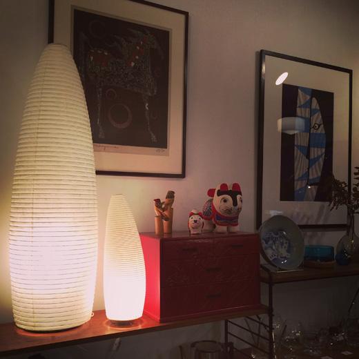 内田繁、ペーパームーン、行灯、和紙照明