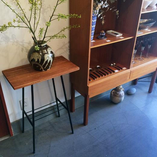 リメイクテーブル、鉄脚、古材天板、ヴィンテージ