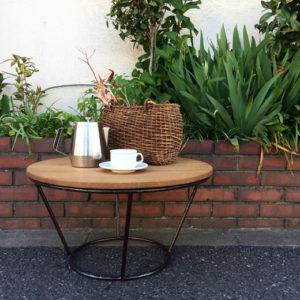 ヴィンテージコーヒーテーブル、リメイク、鉄脚、モダン
