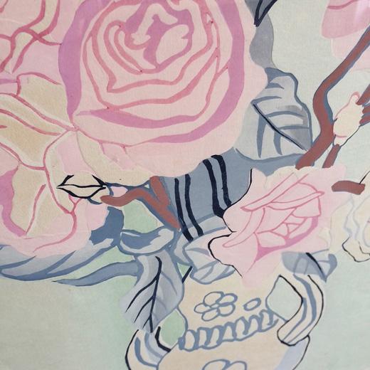 安井曾太郎、木版画、薔薇、バラ、額装品、アート、ヴィンテージ