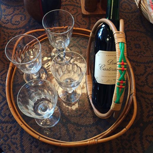 ワイングラス、北欧ヴィンテージ、ホルムガード、北欧インテリア、ガラストレー、ラウンドトレー、モダンインテリア