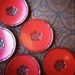 鎌倉彫、菓子器、梅文、古道具、白日堂