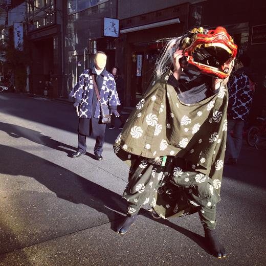 日本橋七福神めぐり、獅子舞、縁起物、2018年、仕事始め