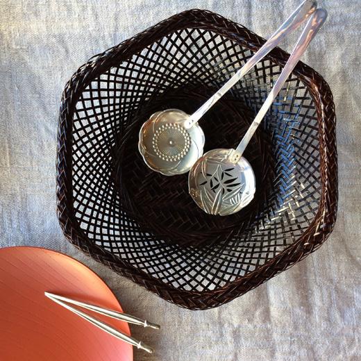 銀製、菓子楊枝、おかきスプーン、三越、松竹梅、シルバーカトラリー、工芸、ヴィンテージ