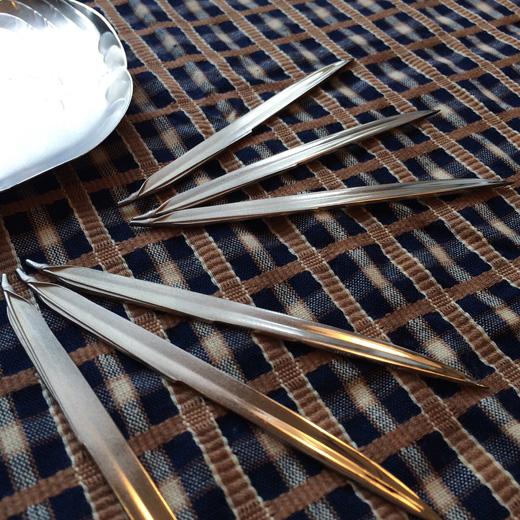 銀製、笹、菓子楊枝、鉄瓶、和モダン、モダンクラフト、茶道具、アンティーク、骨董