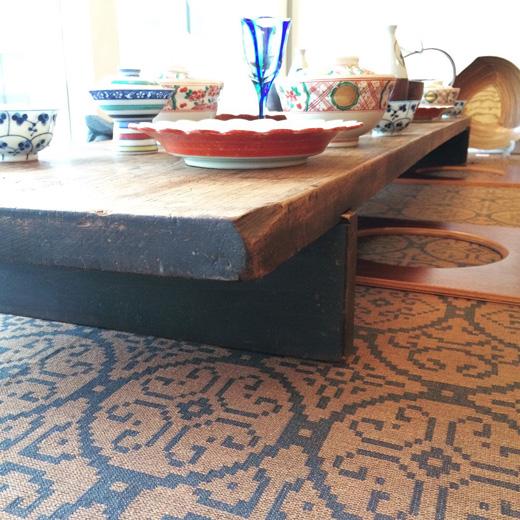 裁ち板、裁板、座卓、ローテーブル、経年変化、無垢天板、一枚板、古道具、古材