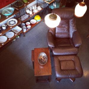 北欧ヴィンテージ家具、リクライニングチェア、モダン