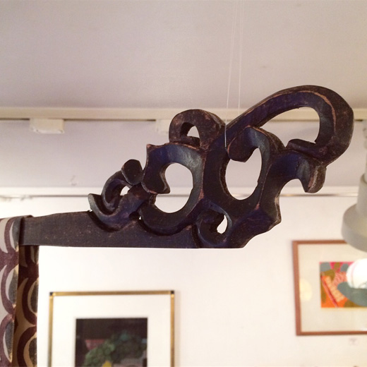 生地掛け、タペストリーハンガー、木彫り、プリミティブ、暮らしの道具、建具、ヴィンテージ、クラフト