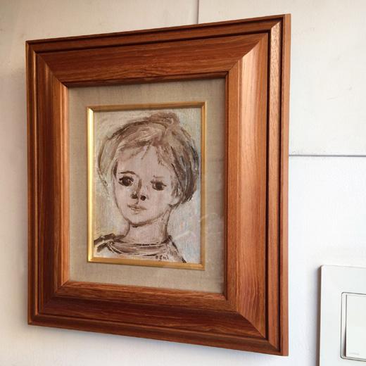 荻太郎、油彩画、肖像画、こども、猪熊弦一郎