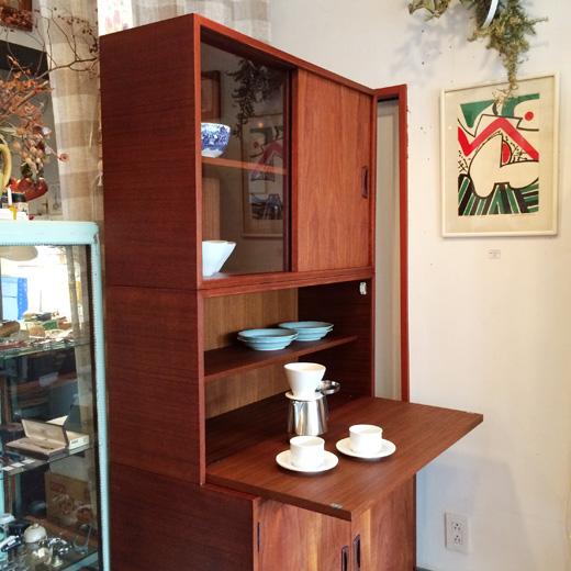 チークシェルフ、食器棚、ヴィンテージ、北欧モダン、日本製、スタッキングシェルフ