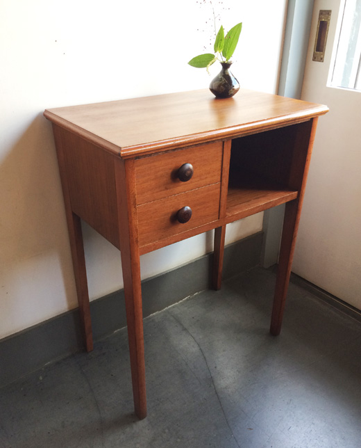 チーク家具、ヴィンテージ、コンソールテーブル、パソコンデスク、モダン