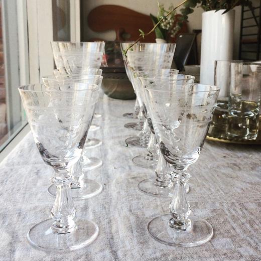 ヴァルサンランベール、ベルギー王室御用達、グラビュールワイングラス、ヴィンテージ、クリスタル