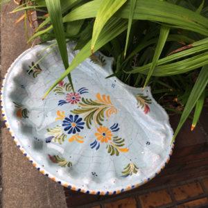 バードバス、ガーデンインテリア、水盤、鉢、スペイン陶器、器、ヴィンテージ食器