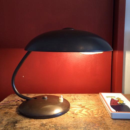 ヴィンテージ、真鍮、デスクランプ、アールデコ、モダンデザイン、テーブルランプ