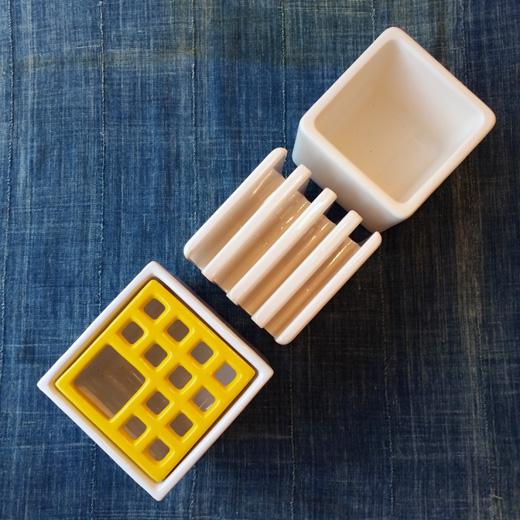 デスクオーガナイザー、陶器製、整理整頓、文房具、ヴィンテージ