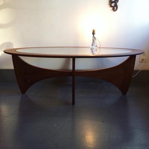 ジープラン、ガラストップコーヒーテーブル、イギリス製、ヴィンテージ、北欧デザイン、イプコフォードラーセン、g-plan