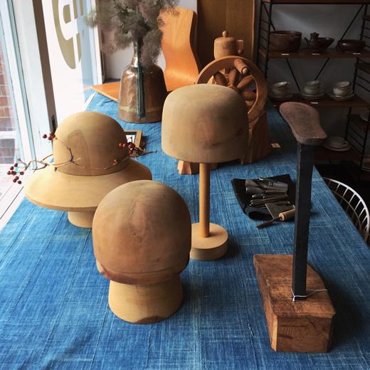 ヴィンテージ、古道具、帽子木型、靴型、職人、クラフト、木工、アートオブジェ、コーヒーミル