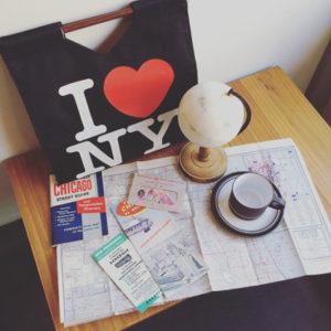 旅行パンフレット、古地図、ilovenewyork