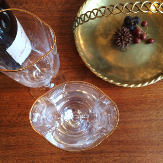 ヴィンテージ、ムラノガラス、イタリア、ベネチアングラス、シャンパングラス